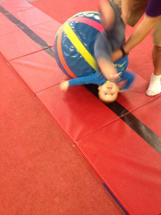 At gymnastics