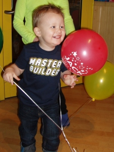 Jacky at his 2nd birthday party on Sunday