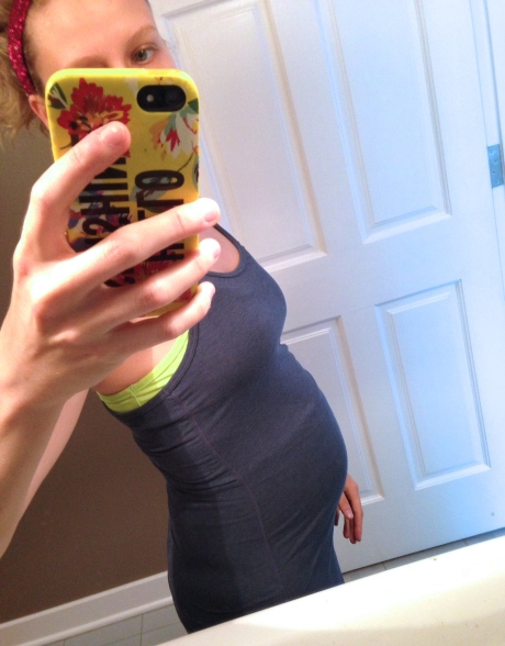 Before my run at 28 weeks exactly