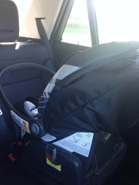We are reusing Jackson's baby car seat. Oh the memories!