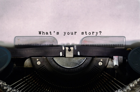 What's Your Story Typed on a Vintage Typewriter